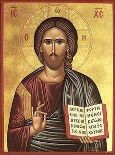 Icon of Christ Blessing – Holy Quotes, Orthodox Icons, Jesus Christ, Catholic, Mona Lisa, Blessed, Artwork, Prints, Teacher