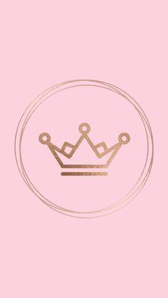 Crown Emoji Wallpaper, Cute Wallpaper Backgrounds, Pretty Wallpapers, Wallpaper Iphone Cute, Pink Wallpaper, Pink Instagram, Instagram Logo, Hight Light, Pink Crown