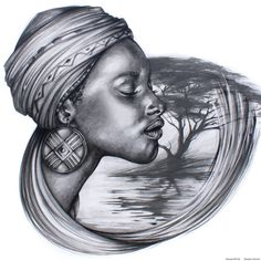 Mother Africa by Benjamin Art