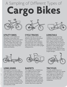 After we rented a Madsen Bicycle on vacation, our family discussed the possibility of owning a cargo bike. We weren. Tricycle, Velo Design, Bike Food, Velo Cargo, Side Car, Bike Trailer, Go Kart, Cycling Bikes, Tandem