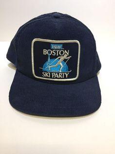 d705442da0088 Vintage Boston Ski Party Corduroy Hat  fashion  clothing  shoes   accessories  mensaccessories