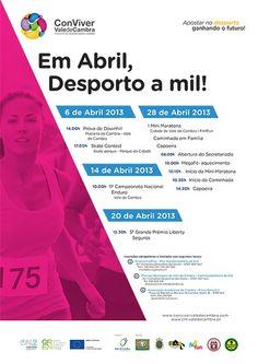 """""""Em Abril, Desporto a mil!"""" > 6, 14, 20 e 28 Abril 2013 @ Vale de Cambra"""