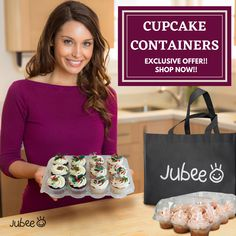 Jubee Cupcake Container is fashioned with sturdy latches to ensure a guaranteed freshness seal, and protect your foods from oxygen, water and keep them fresh from when they were originally crafted! It comes in a set of 12 and every box has 6 compartments. Order now for Cupcake Containers!!! #cupcakecontainer #cupcake #cupcakebirthday #fondantcupcake #icingcupcakes #cakeshop #bakeshop #birthday #cupcakeholder #cupcakecarriers #jubeebag #clearcupcakecontainer #plasticcontainer Cupcake Icing, Cupcake Boxes, Box Cake, 12 Cupcakes, Fondant Cupcakes, Birthday Cupcakes, Cupcake Container, Plastic Containers, Cake Shop