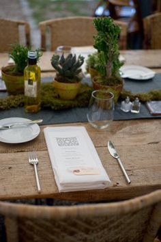 simple place setting.    Style Me Pretty | Gallery
