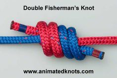 Tutorial on Double Fisherman's, or Grapevine Bend, Knot Tying... But in wedding colors for the ceremony.