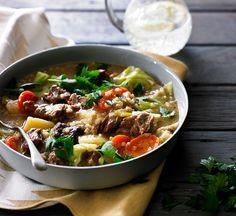 Irish lamb, barley and potato stew