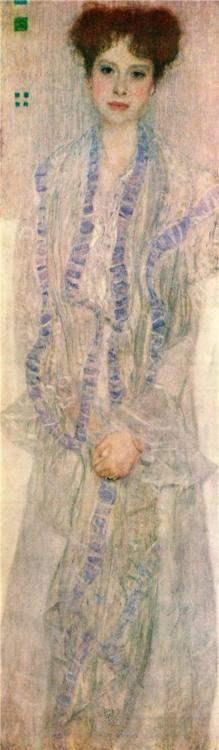 Gustav Klimt ~ Portrait of Gertha Felssovanyi, 1902