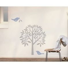 Birds Home Tree Wall Decals