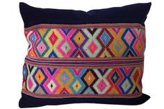 Diamond Pattern Embroidered Pillow from Amber Interiors