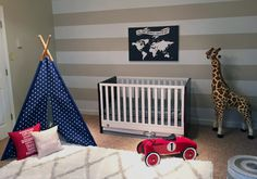 World Traveler Nursery - This Project Nursery-designed nursery is the winner of the @FisherPrice Registry Sweepstakes.