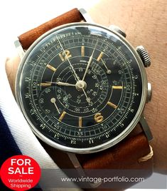 9669eebac46 Restored Omega Vintage Chronograph cal 33.3 Sector dial
