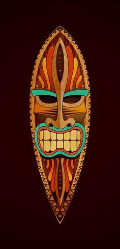 Great Tiki Mask - good for surf board art: