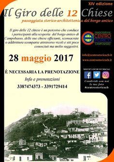 Il Giro delle 12 Chiese il 28 maggio a Campobasso la XIV edizione