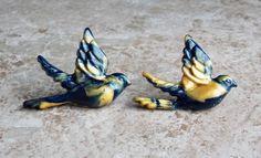 Swallow Earrings Polymer Clay Swallow Bird by FateAndNecessity, $12.00