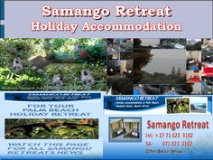 "Samango Retreat Special - Last week of school holiday still available at pd. Lock-up garage. ""LIKE"" page and get regular updates. Kwazulu Natal, Holiday Accommodation, School Holidays, Nature Reserve, Palm Beach, South Africa, First Love, Garage, Spaces"