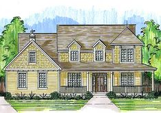Charming Exterior - 39202ST | 2nd Floor Master Suite, CAD Available, Corner Lot, Country, Den-Office-Library-Study, Farmhouse, PDF, Wrap Around Porch | Architectural Designs