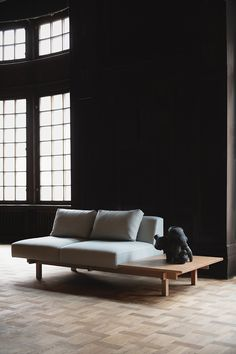 Leibal features minimalist design in regards to architecture, interior design, furniture design, and product design. Minimalist Sofa, Minimalist Design, Swedish Interiors, Steel Fabrication, 2 Seater Sofa, Modular Sofa, Black Walls, Solid Oak, Scandinavian Design