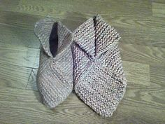 """This is a reworking of Midnattsol's popular """"Felted Slippers"""" pattern as entrelac, with size charts and the squares identified for those who want to do color work."""