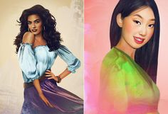 Esmeralda and Mulan