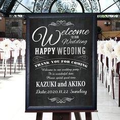 \プレ花嫁に人気/黒板風ブラックウェルカムボード「charles(シャルル)」/結婚式 |結婚式&アイテムプレゼントギフト|ファルベFARBE(本店)