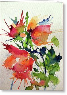 Roses Greeting Card by Kovacs Anna Brigitta