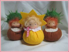 - a designer . Felt Crafts Diy, Xmas Crafts, Crafts For Kids, Waldorf Crafts, Waldorf Toys, Tiny Dolls, New Dolls, Wool Dolls, Kindergarten Crafts