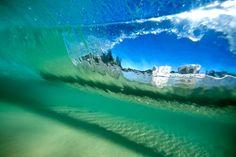 'Underwater Burleigh' at Burleigh Heads Beach. Photo by Sean Scott