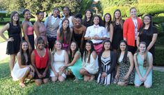 The girls basketball team at the banquet