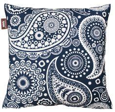 Mini Moderns | Paisley Crescent Cushion - Indigo