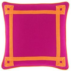 """Katie 18"""" Square Decorative Pillow Happy Chic by Jonathan Adler - Matchbook Magazine"""