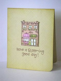 Card by Donna Mikasa using Flower Shop rubber stamp set by Purple Onion Designs.