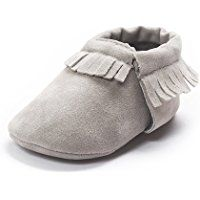 Kuner Baby Boys Girls Tassel Soft Soled Non-slip Crib Shoes Moccasins First Walkers