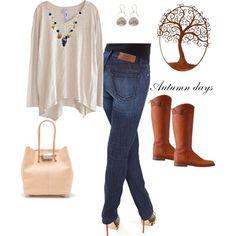 """Autumn #1"" by bulletblues Made in USA www.bulletbluesca.com #bulletblues #madeinUSA #jeans"