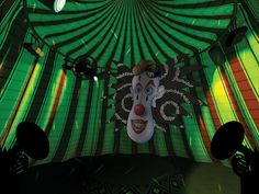 "Original Mandala System playscreen environment for Vivid Group's immersive entertainment experience, ""Cirque-O-Bezerko""."