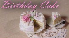 Simple Miniature Birthday Cake - Polymer Clay Tutorial