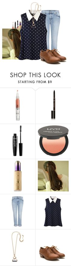 """""""Pilot 3"""" by cheyleexox ❤ liked on Polyvore featuring Anastasia Beverly Hills, NYX, tarte, 7 For All Mankind and Eshvi"""