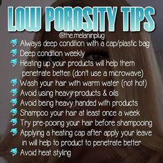 Natural hair low porosity tips Natural hair low porosity tips