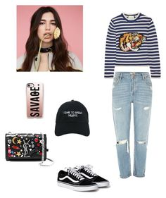 """""""#1"""" by roci28 ❤ liked on Polyvore featuring Yves Saint Laurent, Nasaseasons, Casetify, Gucci and River Island"""