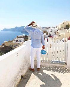 taking in the allure of Santorini. Drop an emoji if this is your favorite Greek destination The Allure, Tourist Spots, Santorini, Jamaica, Adventure Travel, Travel Destinations, Emoji, Greek, Drop