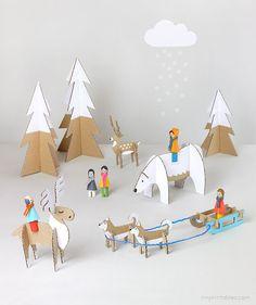 winter wonderland playset free printables