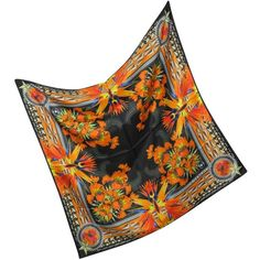 Givenchy Floral Silk Twill Square Scarf ($290) ❤ liked on Polyvore