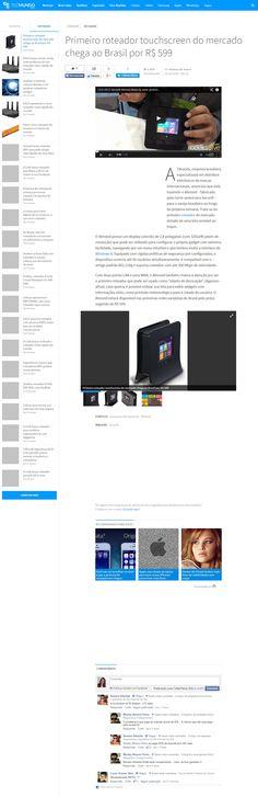 Título: Primeiro roteador Wi-Fi do mundo com touchscreen chega ao Brasil por R$599,00. Veículo: Gizmodo Brasil. Data: 23/09/2014. Cliente: Disac.