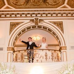 These two had a #magnificent #wedding at #colonyclubdetroit! What a Grand Entrance from above crowd! #yourethebride #detroitwedding #elegant #magical #beautiful #mrandmrs #love #dream #gorgeous #pretty #architecture #weddingdress #bride #groom photo by @samsarkis