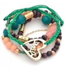 Pulsera Corazón Love | Dulce Encanto accesorios para mujer  Compra tus accesorios desde la comodidad de tu casa u oficina en www.dulceencanto.com