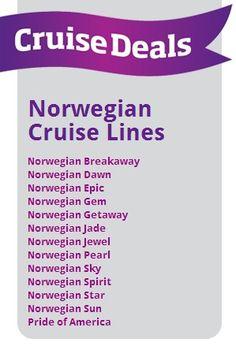 So many ships.....where do I begin!!!    I LOVE to cruise like a Norwegian !!!