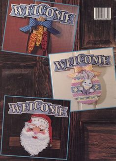 Holiday Doors in Plastic Canvas Leisure Arts by LucyGooseyDolls