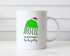 Christmas Mug Funny Coffee Mugs Jelly Fish Pun Tis The Season