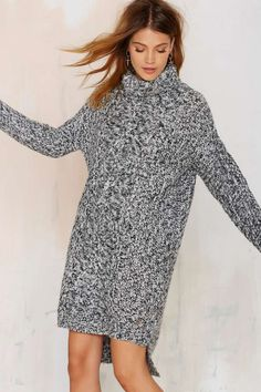 Deal With Knit Sweater Dress - Clothes | Day | Pullover