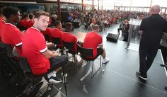 Juan Mata diverts his attention from a @manutd signing session in the USA to pose for this cheeky shot.