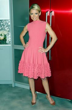 pretty pink dress with the perfect colored shoe